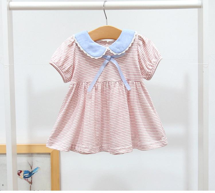 3dd8adce1689 2019 Baby Dress Striped Newborn Baby Girls Dresses Summer Clothes ...