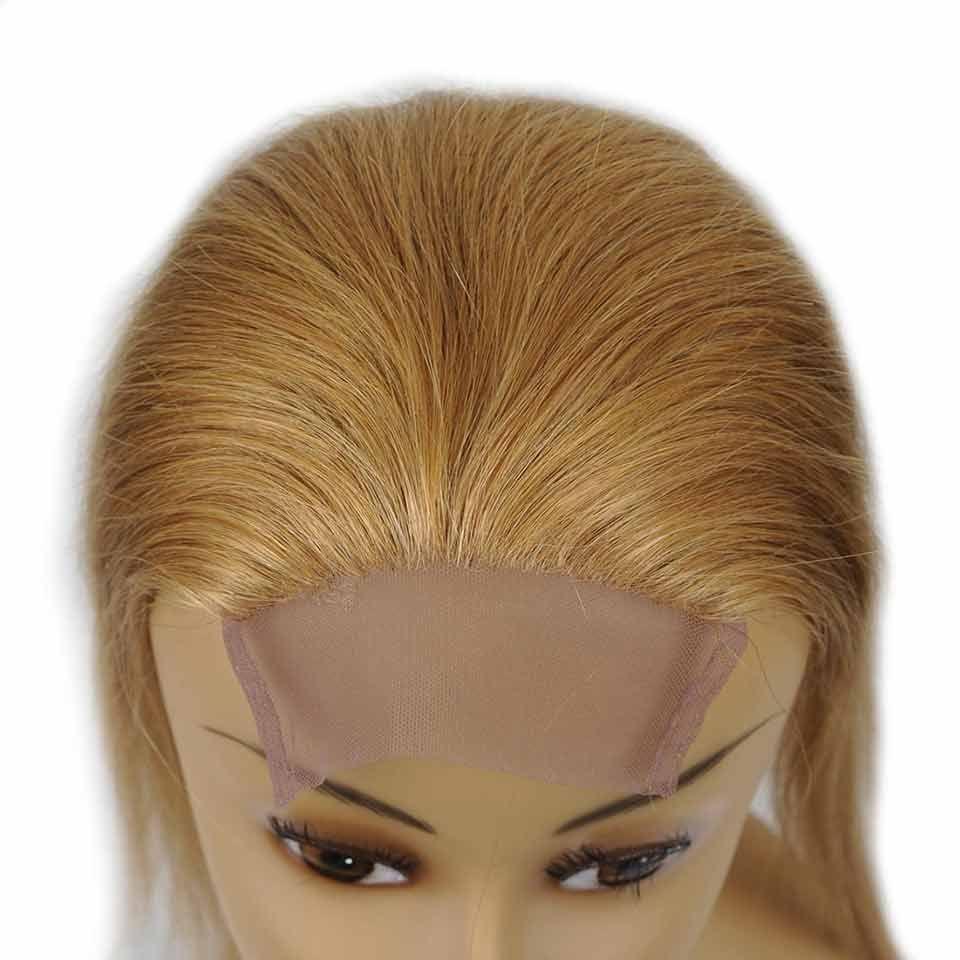 Color puro Cierre de encaje de pelo Proveedores Brasileño Cabello humano 4x4 Cierre de encaje Color 27 30 33 99J Miel Rubio Mediano Auburn Rojo Oscuro