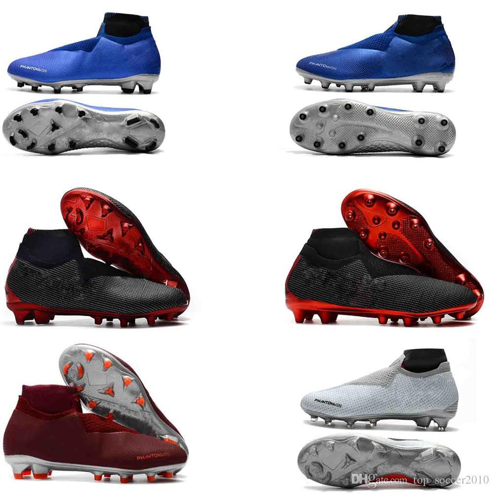 44419f03d 2019 Mens High Ankle Football Boots Sports Phantom VSN Elite DF FG Soccer  Shoes X J X PSG Phantom Vision FG Outdoor Soccer Cleats From  Top soccer2010