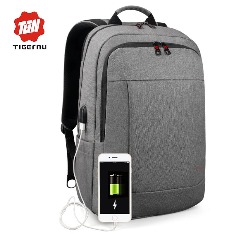 e1a1ba5d8e Fashion Tigernu Anti Theft USB Charging Men 15.6inch Laptop Backpack For  Women Fashion Travel Mochila School Bag Casual Laptop Bag Side Bags Kids  Backpack ...