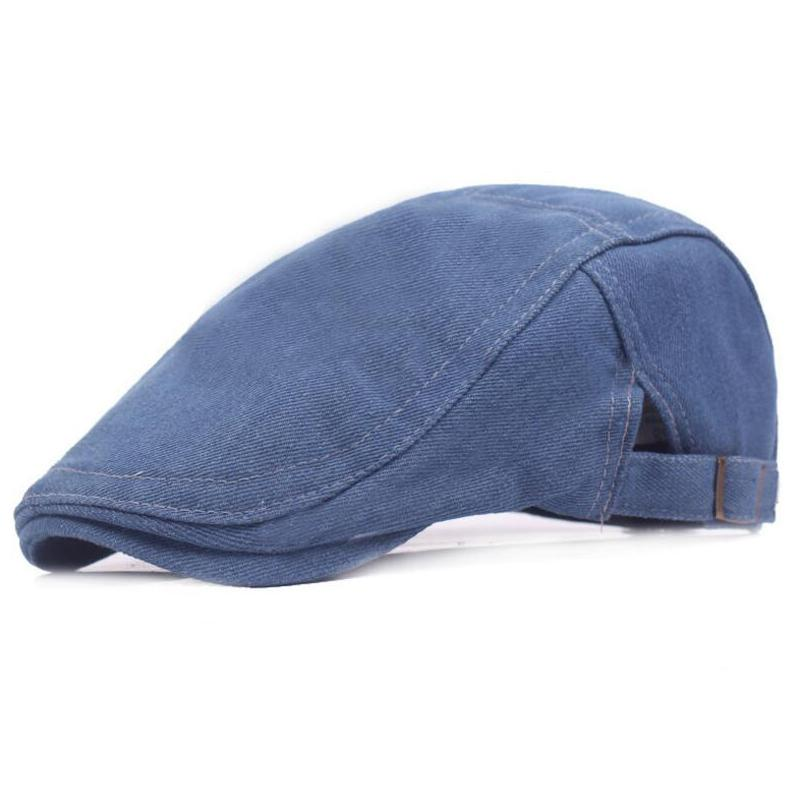 a3a8654724dff Adjustable Beret Caps Summer Outdoor Sun Bone Brim Hats Womens Mens  Herringbone Solid Flat Berets Cap Unisex Casual Jeans Hat Flat Beret Beret  Cap Mens ...