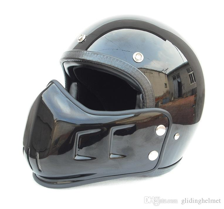 aff07748 FPR Open Face Motorcycle Vintage Helmet With Mask Mounth For Dirt Bike Cafe  Racer Casco Custom Motocross Cycling Chopper Cruiser Shoei Motorcycle  Helmets ...