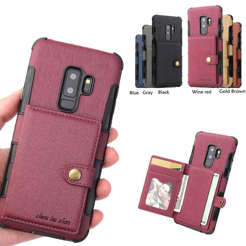 Etui De Telephone Portable Etuis Pour Samsung Galaxy Note 8 9 S8 S9 Plus  G530 Etui En Cuir Pour Téléphone Etui Pour Housse Galaxy A3 A5 A8 A7 J2  Prime J5 J7 ... 3d9478fa0ec
