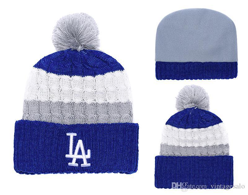 89b590d8 ... amazon men woman 2019 los angeles dodgers beanie high quality baseball knit  hat cuffed knit caps