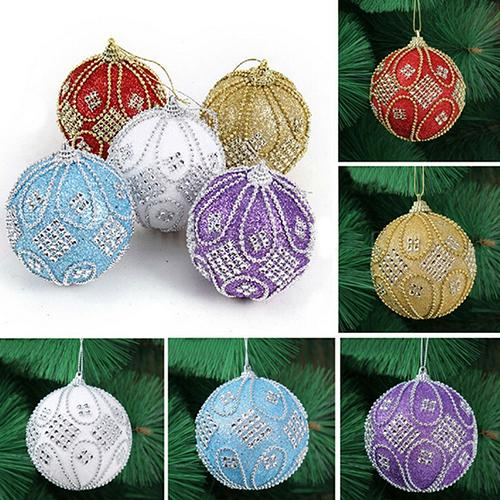 diameter 8cm upscale decorations ball xmas party wedding ornament xmas christmas tree hanging diamond chain balls decorate christmas decorate christmas - Christmas Chain Decorations