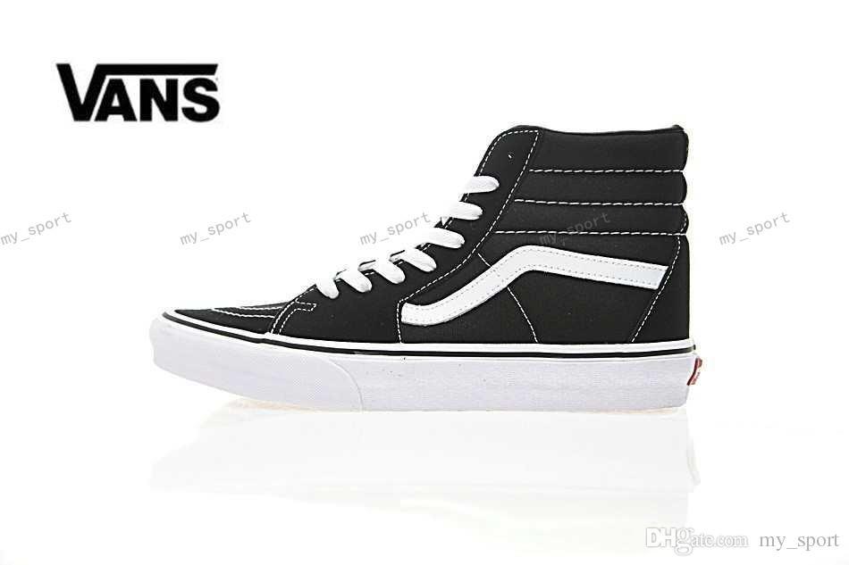 55cfd404ef2e 2018 Old Skool White Black Classic Zapatillas De Deporte Sneakers ...