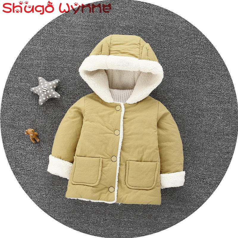 fcd98fa6a41b Baby Girls Cute Hooded Jacket Coat Infant Kids Cotton Thick Fleece ...
