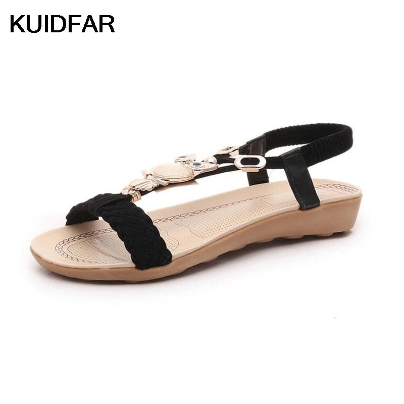 bb10dc1ca29d Plus Size 36 42 Women Sandals Fashion Shoes Woman Summer Gladiator ...