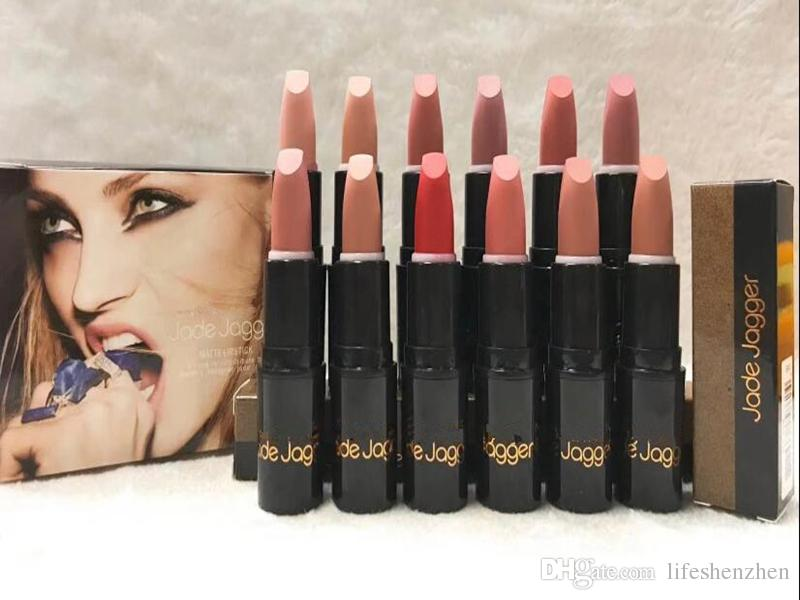 2018 HOT good quality Lowest Best-Selling JADE JAGGER NEW Brand Makeup MATTE LIPSTICK Twelve different colors DHL