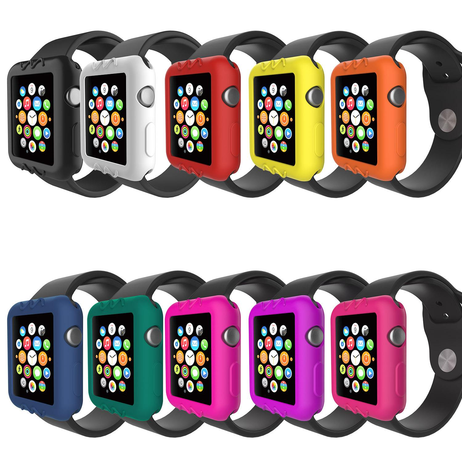 the best attitude 55016 43260 soft and slim Case for Apple watch Series 3 Series 2 38mm / 42mm TPU Soft  Cover for Apple Watch case Protect Cover