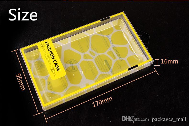 Universal-Handy-Fall-Paket PVC-Kunststoff-Einzelhandel Verpackung Box mit Innenblister für iPhone Samsung HTC Handy-Fall passen 5,7 Zoll