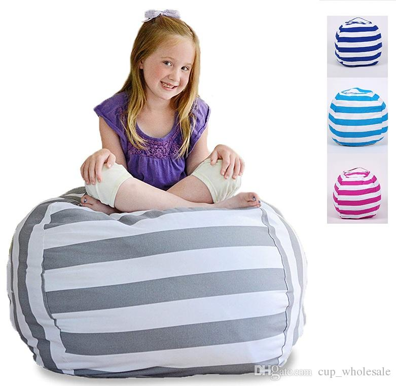 2019 63cm Kids Storage Bean Bags Plush Toys Beanbag Chair Bedroom Stuffed  Animal Room Mats Portable Clothes Storage Bag Canvas Organizer From  Cup_wholesale, ...