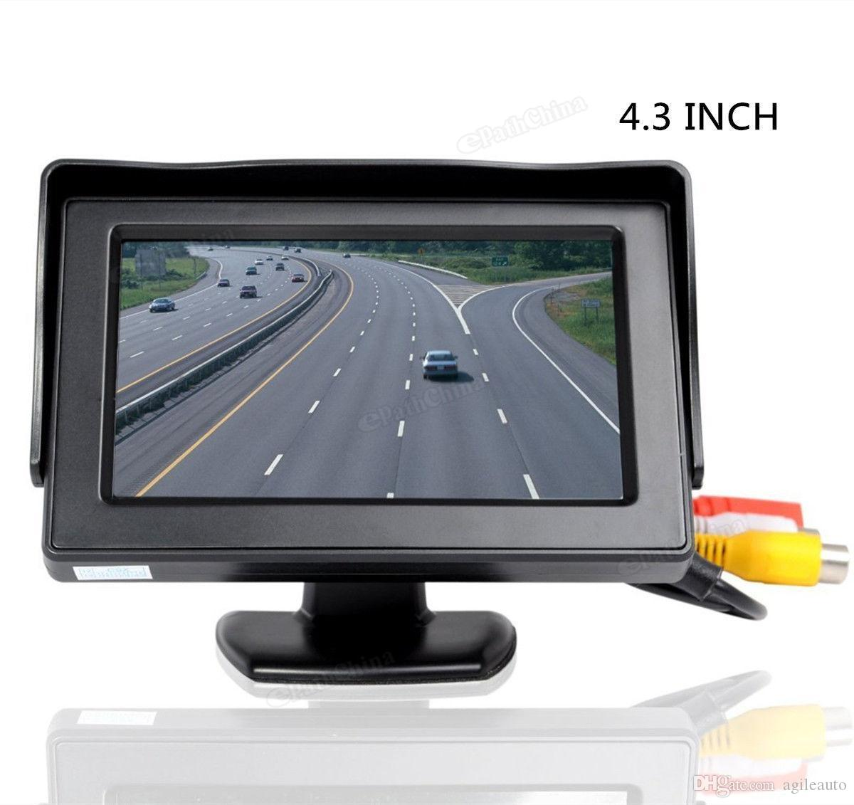 4.3 inch TFT LCD Car Rearview Monitor + 420 TV Lines CCD Backup Waterproof Parking Camera Rear View Camera CMO_50K
