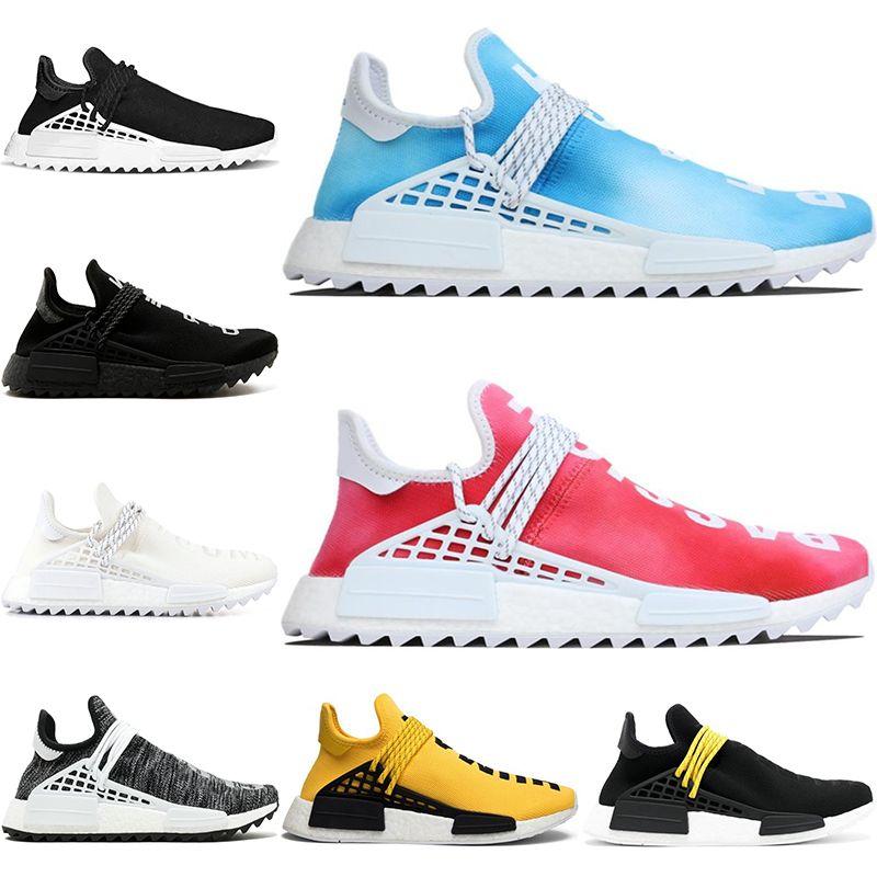 0537c5a38 Nerd Human Race Trail Running Shoes Pharrell Williams Hu For Men Women  Equality Cream White Black Designer Trainer Sports Sneaker Size 36 47 Men  Shoes On ...