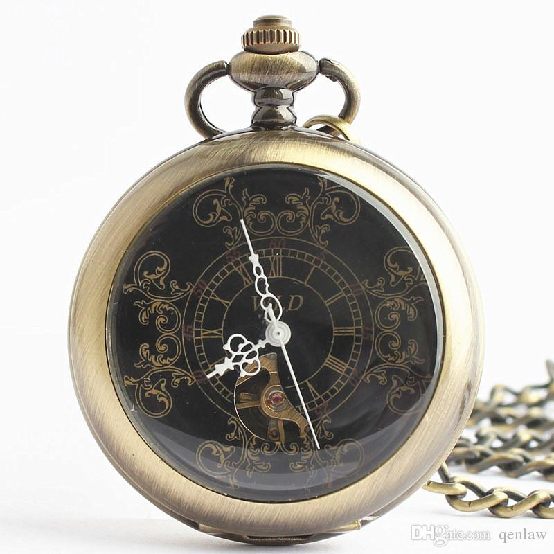 Pocket & Fob Watches Precise Vintage Retro Bronze Doctor Who Case Full Hunter Pocket Watch With Necklace Chain Fob Watch Gift For Men Women Gift Bag In Many Styles