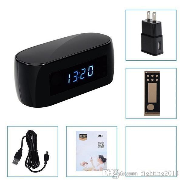 1080P Wifi Clock Camera con visione notturna Mini P2P IP Camera Wireless Pinhole Cam Sorveglianza di sicurezza domestica Mini videocamera Baby Monitor
