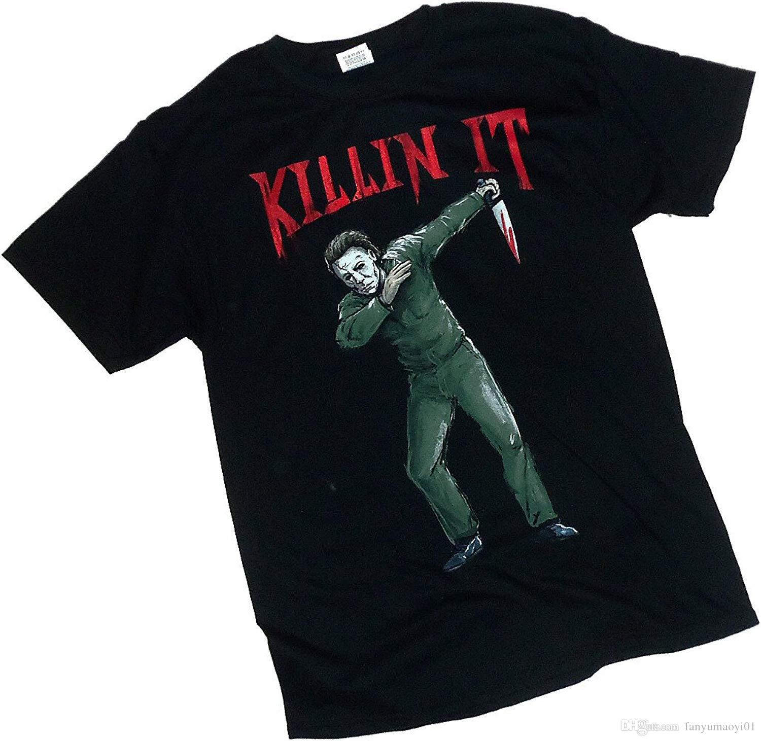 Casual Plus Size T Shirts Hip Hop Style Tops Tee Halloween Movie Killin It 89b976b1331d