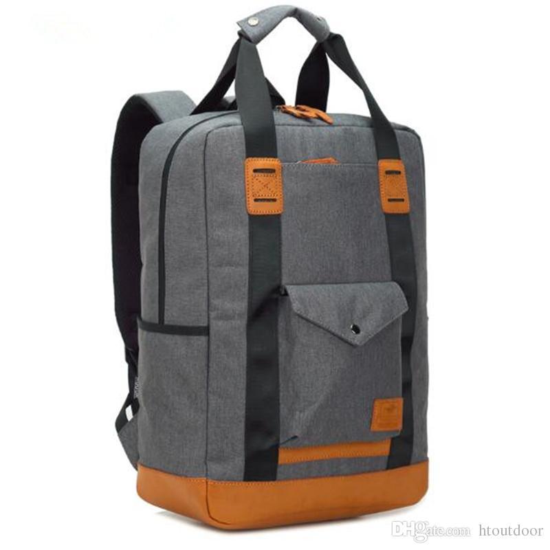 66fcb2e49e73e Großhandel 3 Farbe Leder Rucksack Wandern Bergsteigen Reise Daypacks  Business Laptop Unisex Casual Rucksack Schultasche Schultasche Totes Tasche  Von ...