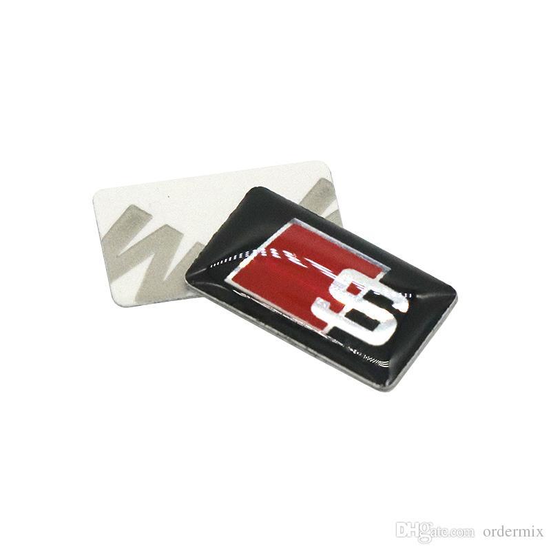 S Line Metal Car Door/window Emblem 3D Decoration Sline Stickers For Audi S Sports A1 A3 A4 A5 A6 A7 A8 S8 Q3 Q5 Q7