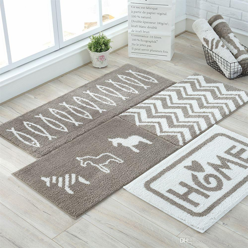 Bon Entrance Decorative Door Mats Modern Rugs Grey Letter Doormats Covering Pad  Matting For Indoor Kitchen Room Carpet Retailer Commercial Carpet Companies  From ...