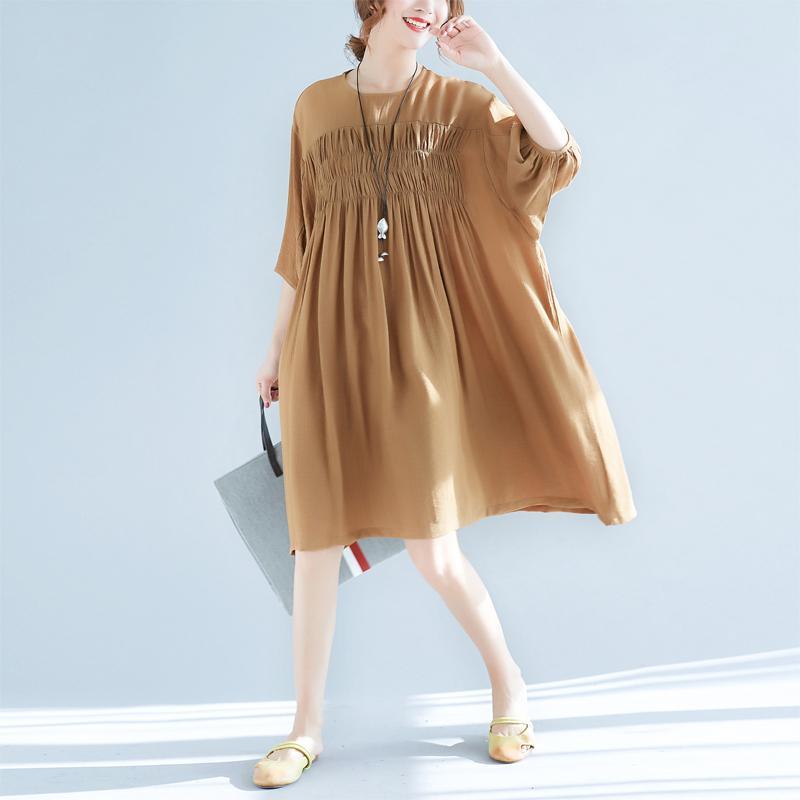 2018 Plus Size Women Cotton Linen Dresses Summer 2018 Vintage Loose