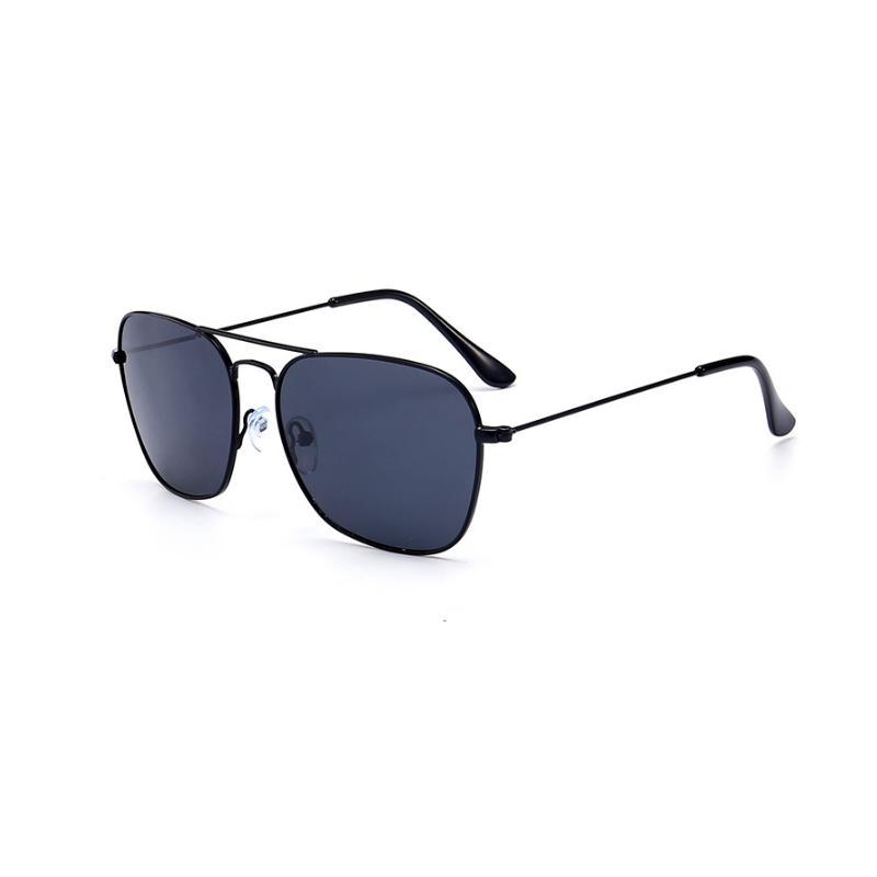 d89edec918 Compre Gafas De Verano Polarizadas Para Hombre Gafas De Sol Cuadradas Con Parte  Superior Plana Oularizadas De Gran Tamaño Conducción De Cristal Negro ...