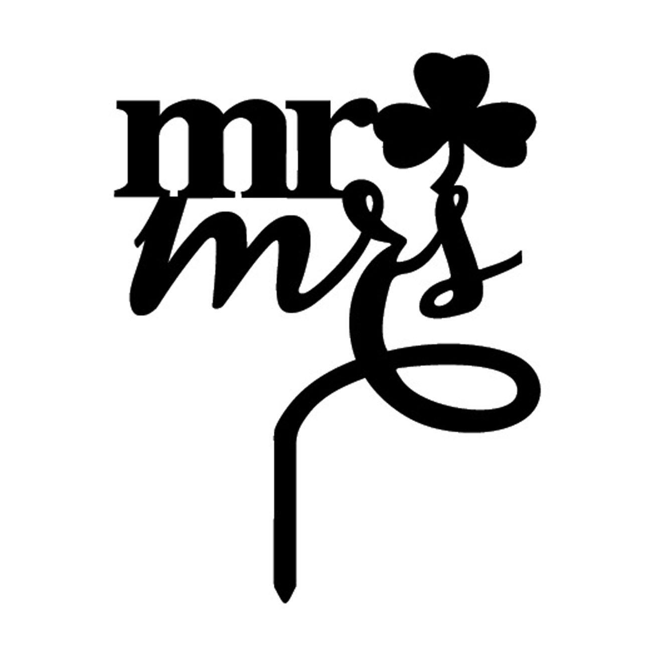 2019 Hotsale Feis all'ingrosso arcylic Mr e Mrs parole inserita carta torta topper decorazione torta nuziale accessorio