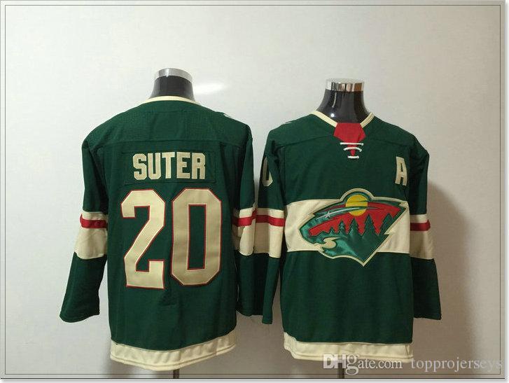 New Minnesota Wild #16 Jason Zucker 20 Ryan Suter Mens Ice Hockey Shirts Pro Sports team Jerseys Pro Uniforms Stitched Embroidery For Sale