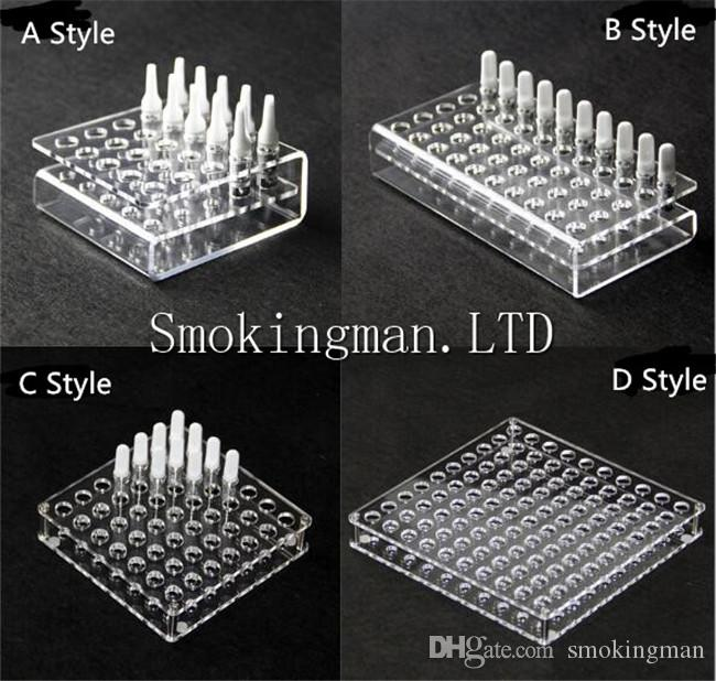 Acrylic display clear stand shelf holder base vape rack box show case for Cartridge CE3 92A3 G2 G5 WT36 Atomizer Holder