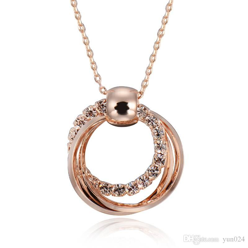 Wholesale anti sensitive rose gold collarbone chain necklace is a wholesale anti sensitive rose gold collarbone chain necklace is a stylish and simple round gold pendant number pendant necklace stone pendant necklace from aloadofball Images
