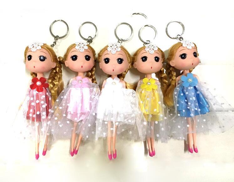18cm Korean girl wedding confused doll wedding doll married bride key chain pendant creative gift wholesale