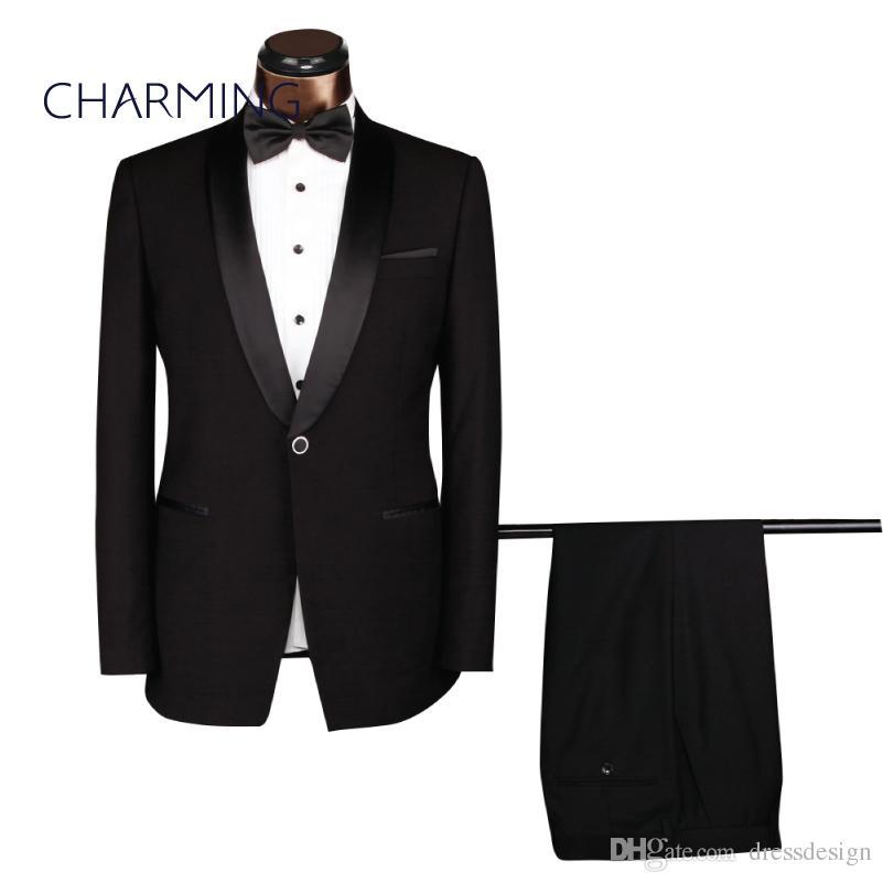 Compre Trajes De Vestir Para Hombres Trajes De Hombres Negros Trajes  Formales Para Hombres Trajes De Diseñador Para Hombres Adecuado Para El  Trabajo 238c422a407a