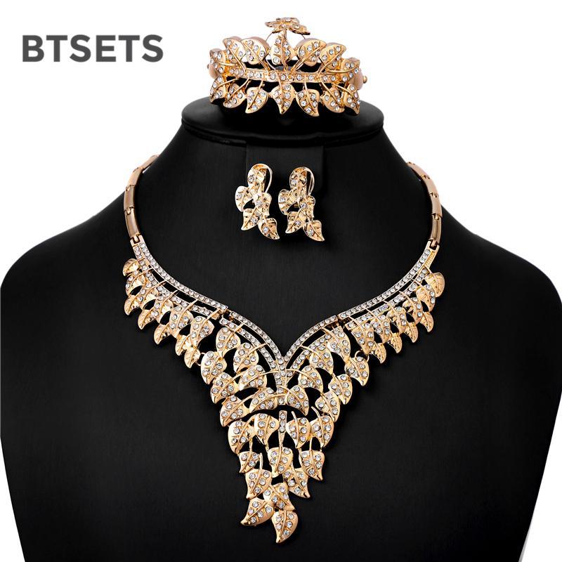 f45bd8436410 BTSETS Conjunto de Joyas Africanas Boda Nigeriana Dama de honor Sistemas de  la joyería de moda barata para las mujeres pendientes de la vendimia traje