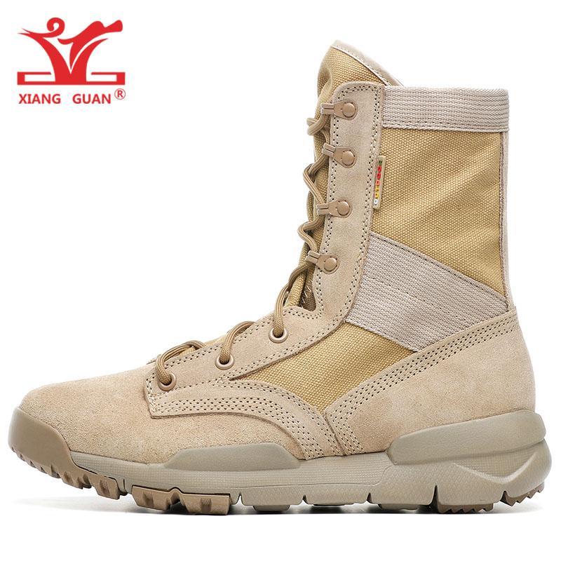 Männer Stiefel Anti-slip Outdoor Wandern Schuhe Wüste Stiefel Kampf Stiefel Sicherheit Schuhe Sicherheit & Schutz