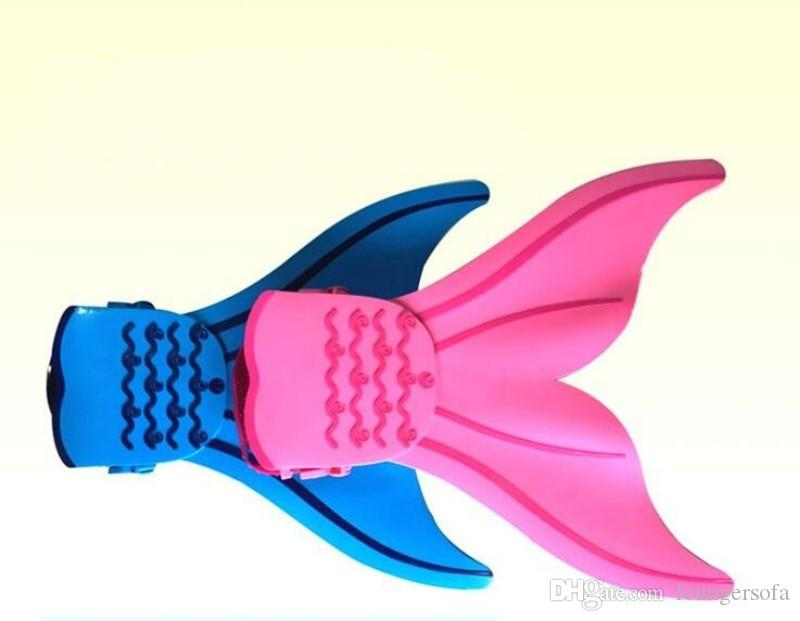 الحوت الذيل شكل القدم زعنفة لينة سلامة السباحة زعنفة الأطفال عدم الانزلاق حورية البحر الغوص هدية monofin 36 48hh ب