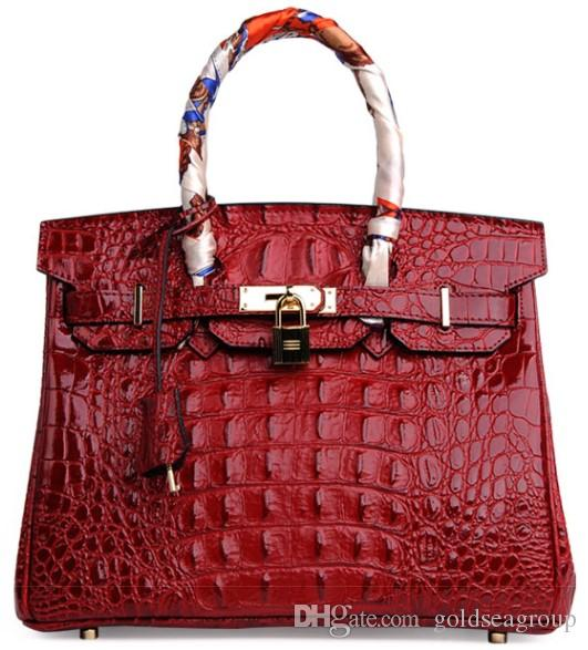 crocodile shoulder bag tote emboss ostrich wholesale bride women handbag lady purse UK BR FranceTogo genuine leather bags Paris USA EUR