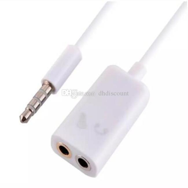 Cavo da 3,5 mm a doppio da 3,5 mm Cavo da maschio a femmina Cavo audio Adattatore splitter Plug Auricolare stereo iphone 4 5 6 Mp3 Mp4