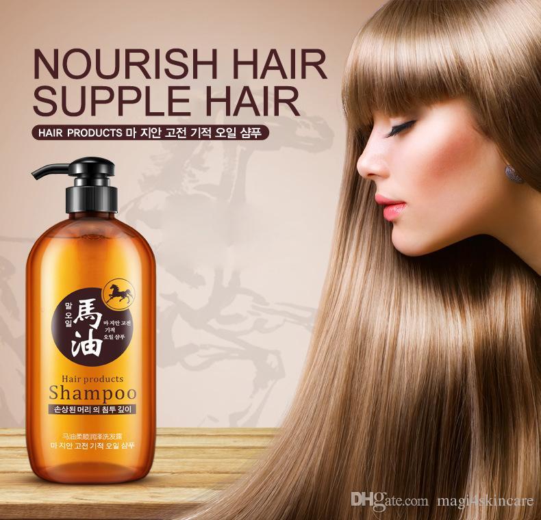 Horse Oil Shampoo Silicon Free Oil Nourishing Moisturizing Anti-Dandruff Professional Women Healthy Thinning Dry Normal Hair 300ML