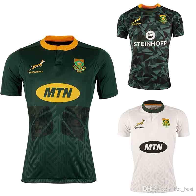 Compre 2019 Camiseta De Rugby Para Hombre De Sudáfrica Sudáfrica 2018 2019  Sudadera De Rugby Para Casa De Sudáfrica 7a Blanca Uniformes De Rugby ... 7836eb308420e