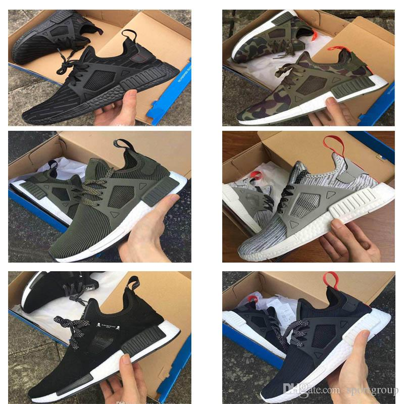 947f043bc 2018 NMD XR1 Running Shoes Mastermind Japan Skull Fall Olive Green Camo  Glitch Black White Blue Zebra Pack Men Women Sports Shoes 36-45 NMD XR1 Men  Shoes ...