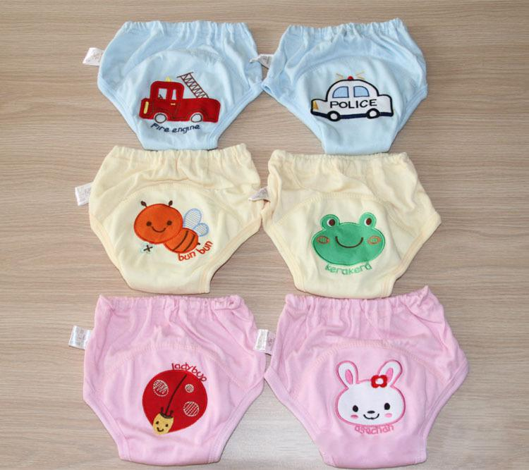 Hot Selling 8pcs/lot 4 layers Baby Training Pants Boy Nappies Girl Underwears Briefs Infant Diapers #005