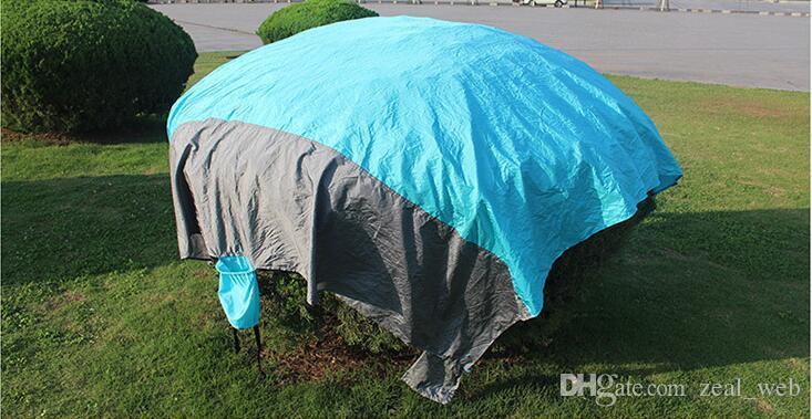 DHL пляж мат компактный открытый пляж одеяло пикник одеяло нейлон материал песок бесплатно быстрая сушка с пакетом мешок