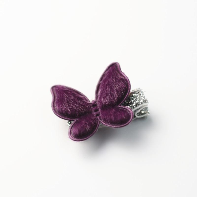 2017 New Cute Purple Plush Rabbit Crown Girls Hair Clips Kids Hairpins Barrettes Children Hair Accessories