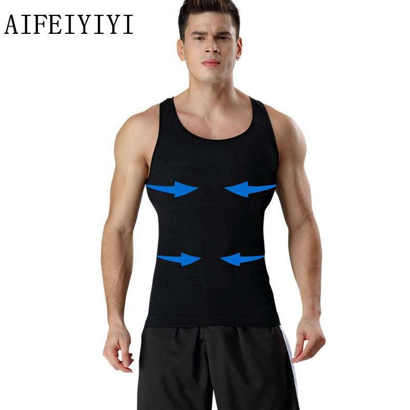 2333a729e1 2019 Summer 2018 Mens Stretch Sleeveless Base Layer Tops Body Shapers  Breathable Quick Dry Underwear Abdomen Corset Waist Vest From Xiatian7