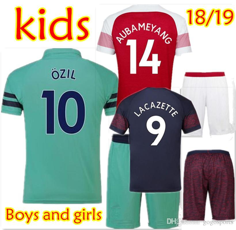 58e959139f3 Kids Arsenal Soccer Sets 18 19 AUBAMEYANG MKHITARYAN OZIL Soccer ...