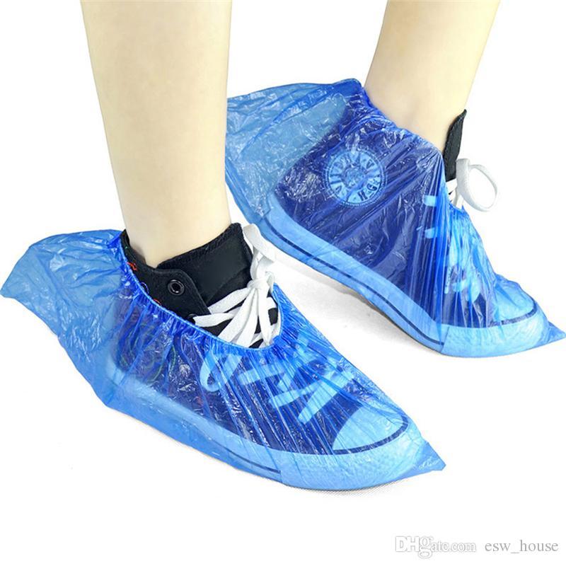 Chaussures Épaississement jetables ménage couverture de chaussures imperméables couverture couvre-bottes Chaussures de pluie Couverture Livraison gratuite en gros