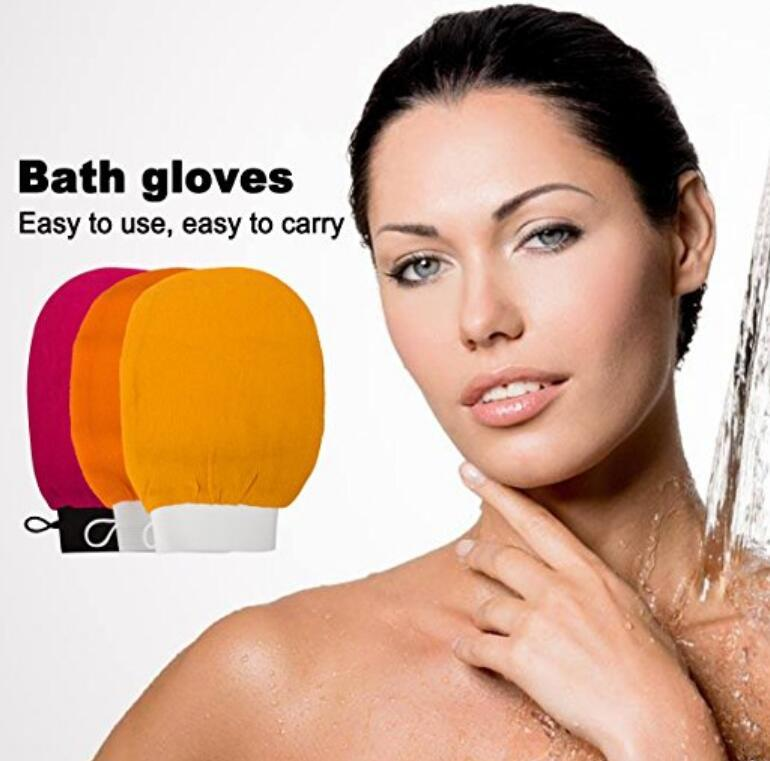 Scrubbing Exfoliating Gloves morocco bath towel hammam scrub mitt magic peeling glove exfoliating tan removal mittnormal coarse feeling