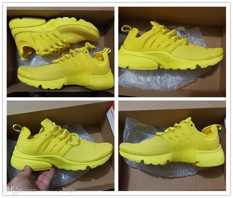 timeless design 37af0 99c07 Acheter 2018 PRESTO 5 BR QS Breathe Noir Blanc Jaune Rouge Hommes  Chaussures Sneakers Femmes Chaussures De Course Chaud Hommes Chaussures De  Sport À Pied ...