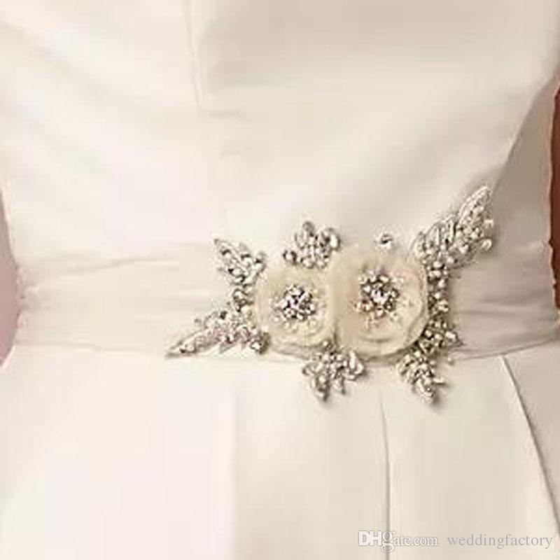 Wedding Dress Belts.2018 Stunning Bridal Sash Handmade Flowers Wedding Dresses Belts With Beading Sequins Pearls Tulle Tie At Back Adjustable Size