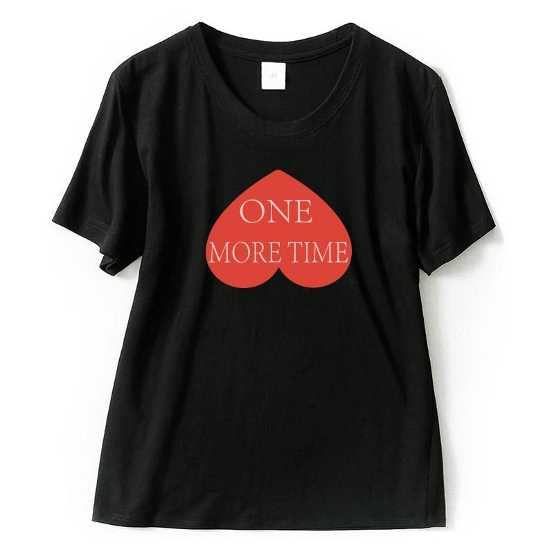 Compre T Das Mulheres Na Moda Das Mulheres T Camisas Amor One More Time  Impressão Preto Branco 100% Algodão Camisetas Engraçadas De Alta Qualidade  Coreano ... fc9d9387fe0b5